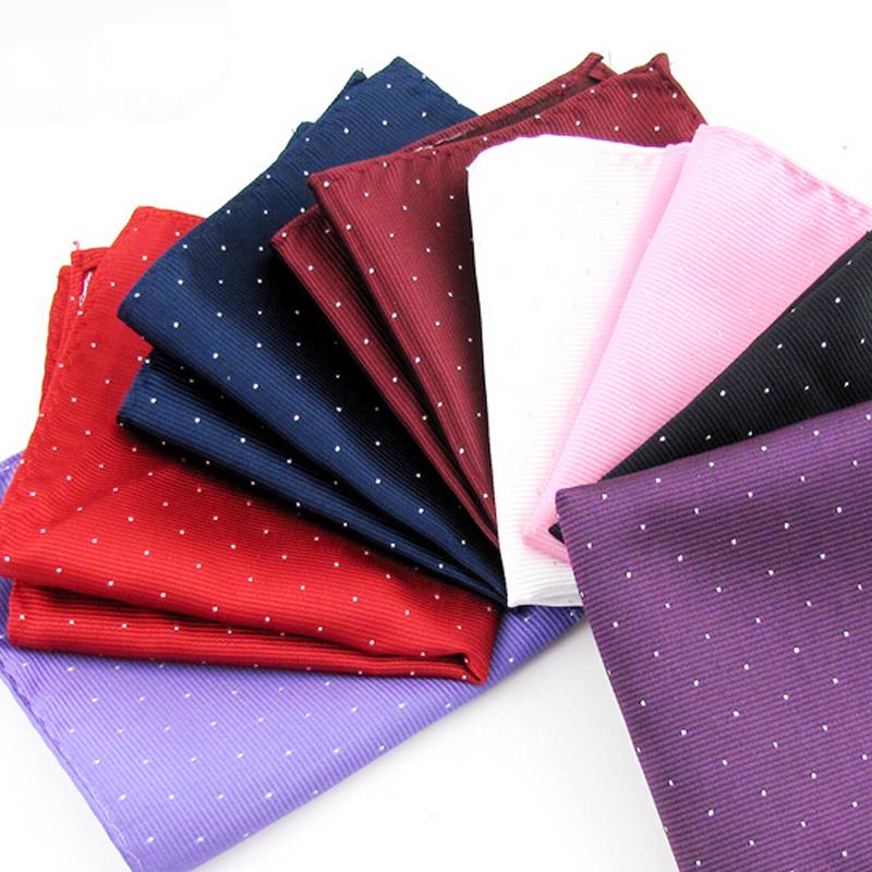 1pc Hot Fashion Mens Gift Pocket Square Dot Hankerchief Korean Silk Paisley Dot Floral Hanky Wedding Party(China (Mainland))