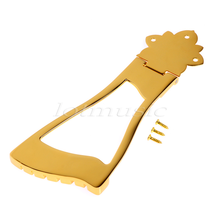 Gold 6 String Guitar Bridge Tailpiece For Hollow Body Archtop Guitar for Jazz Guitar replacement(China (Mainland))