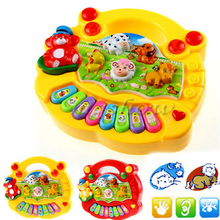 1pc Baby Kids Music Musical Developmental Animal Farm Piano Sound Toy Musical Instrument Educational Toy Gift FCI#(China (Mainland))