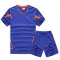 2016 New Men Soccer Jersey Football Clothing Paintless Summer Sportswear Set Male Breathable Soccer Football Jersey
