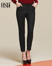 OSA2015 new fall women's slant true pocket pencil pants women's casual pants SK542001(China (Mainland))
