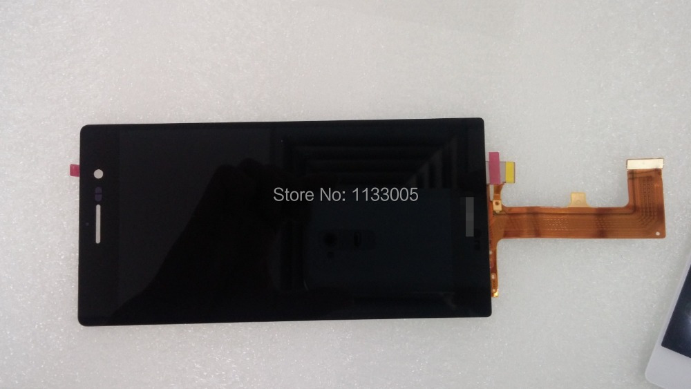 Hot Selling 100% Warranty For Huawei Ascend P7 Original Black Touch Screen+ LCD Display Assembly replacement Free Shipping(China (Mainland))