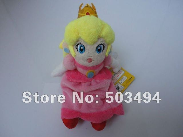 "EMS Free Shipping 50/LOT Super Mario Plush 8.6"" sitting Princess Peach Plush Doll Toys"