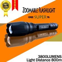 Бесплатная доставка E17 кри супер XM-L T6 3800 люмен из светодиодов факел алюминиевый масштабируемые кри из светодиодов фонарь свет для 2 x 18650