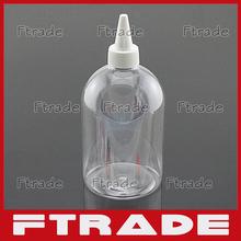500ml 10PCS/LOT Beak bottle PET With Needle Nose Cap Lid Empty Plastic Cosmetic Liquid Container Points Bottling(China (Mainland))