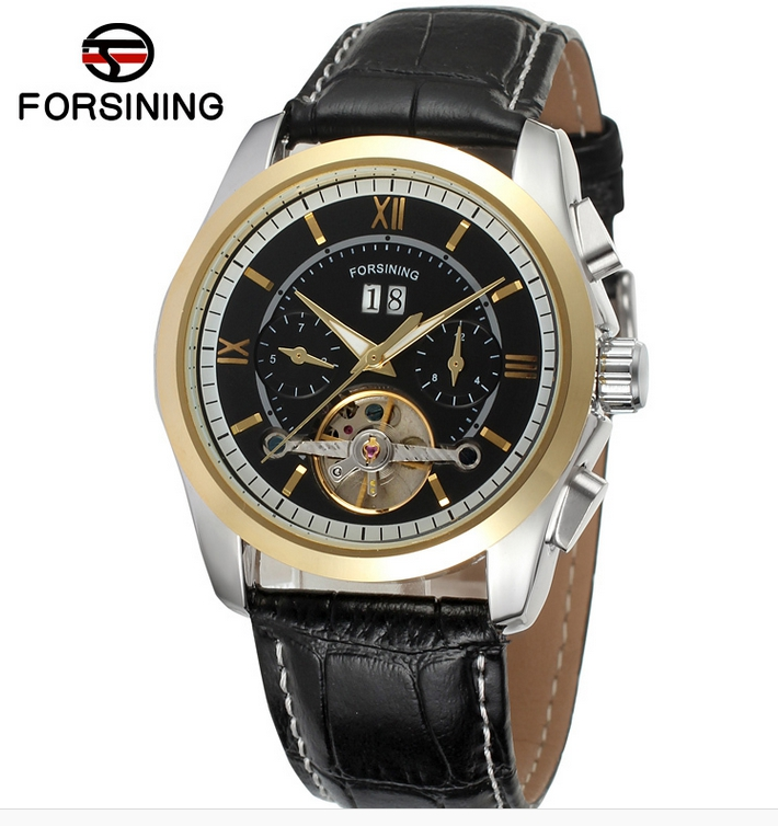 FORSINING New Luxury Decorative Automatic Mechanical Skeleton Men Quartz Watches Hours Style Analog Casual Dress Wristwatches<br><br>Aliexpress