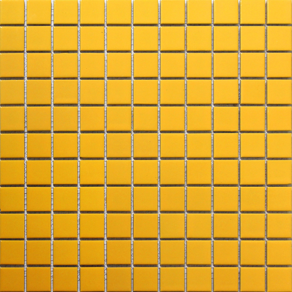 Yellow ceramic tile
