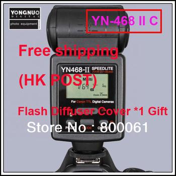 Free shipping Yongnuo Upgraded YN-468 II Flash Speedlite for Canon 1100D 1000D 600D 550D 500D