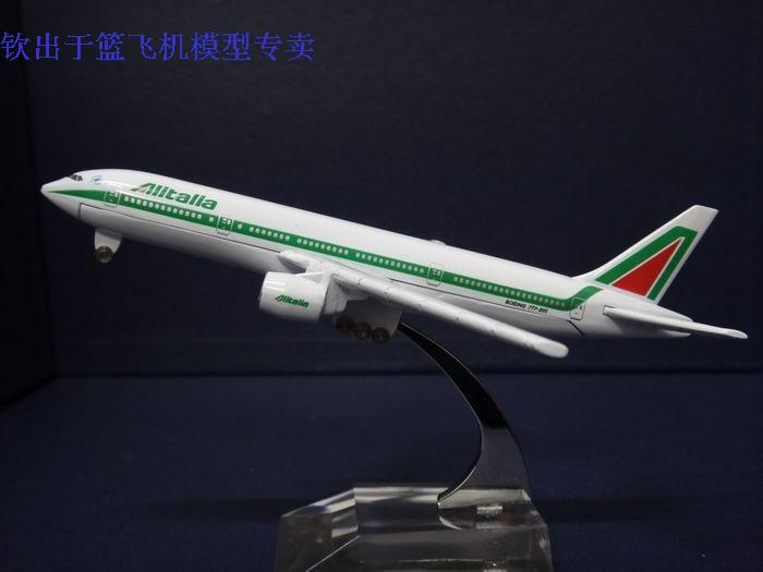 16cm 1:400 Alitalia Italian Airlines Plane Model Boeing B777 Alloy Airplane Model Kids Toy Gift Collections Free Shipping(China (Mainland))