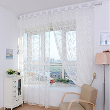 Best Deal Good Quality Summer Fashion Flower Curtain Yarn For Bedroom Clear Sheer Curtain Tulle Size 200X100cm 1pcs(China (Mainland))