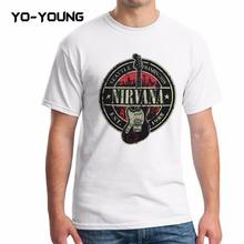 Buy Yo-Young Men Casual T Shirts Rock Band Nirvana Kurt Cobain Printed 100% 180g Combed Cotton Short Sleeve Customized for $12.99 in AliExpress store
