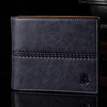 New 2015 Men Wallets Famous Brands Leather Mens Wallet Male Money Purses Soft ID Card Case Classic Soild Pattern Designer Wallet