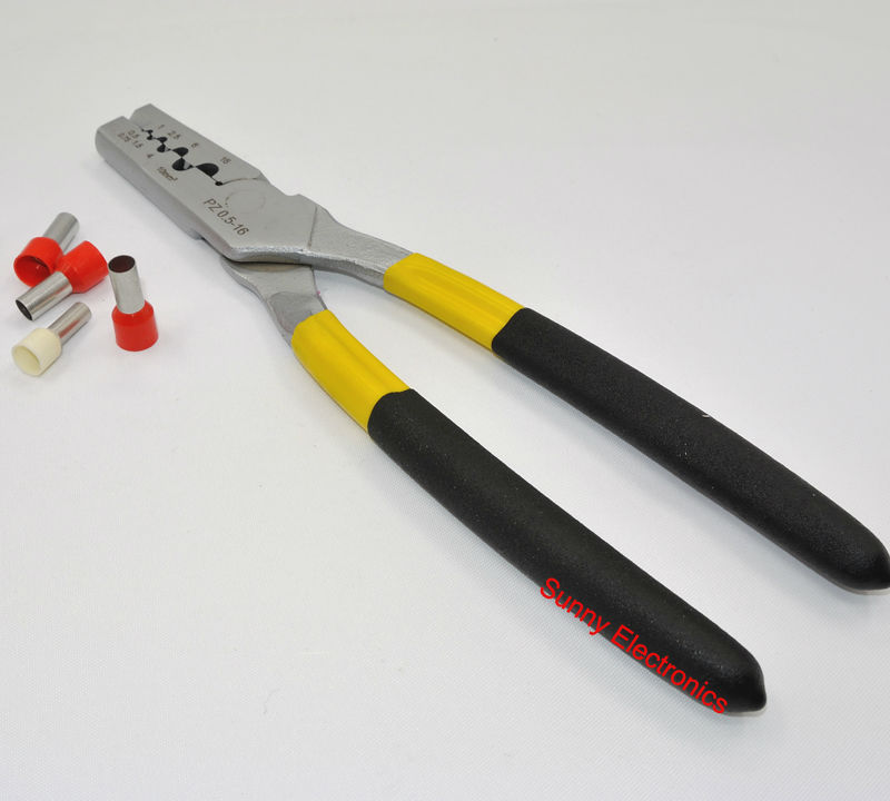 Mini Small Cable End-Sleeves Ferrules Crimping Tool Crimper plier 0.5-16mm2 free shipping(China (Mainland))