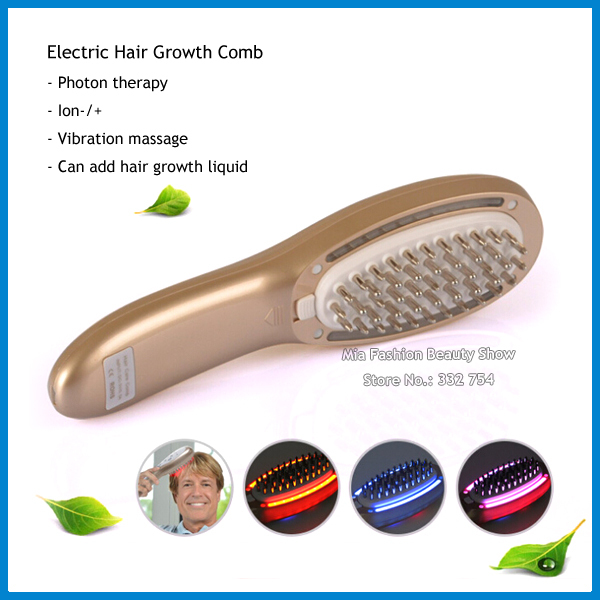Home Use Electric Laser Hair Growth Massager Comb LED Light Photon Therapy Hair Loss Treatment(China (Mainland))
