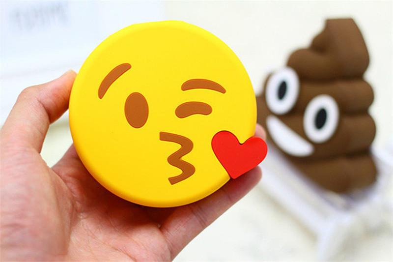 Portable Carton Emoji Unicorn Mobile Power Bank Universal Phone Battery Charger Real 1800mAh Laugh Cry Kiss Expression