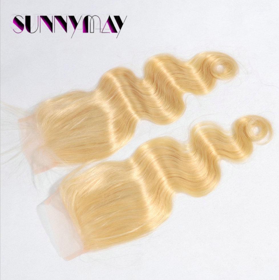 Blonde top closure (#613) 3.5*4 newest body wave virgin Peruvian hair lace closure(WJJ-1912117)<br><br>Aliexpress