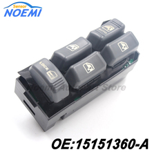 Auto Part Power Window Switch 15151360-A For GMC Chevrolet Cadillac Escalade 1999 2000 Drivers Front Master Window Switch