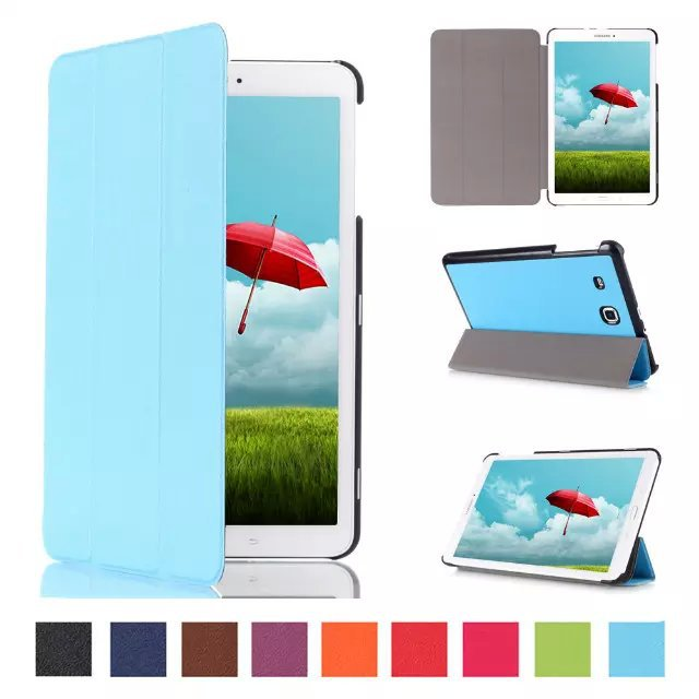 Luxury Elegant Pu leather stand case cover Shield for Samsung Galaxy Tab E 9 6 T560