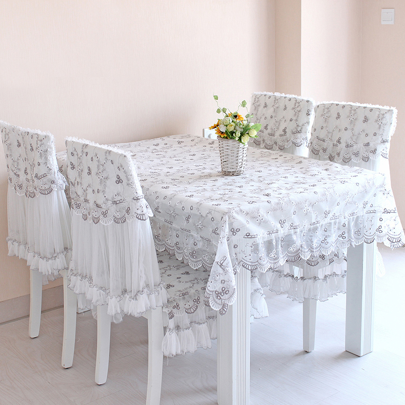 Lace Fabric Floral Table Cloth Easy Clean Moderate Formal Party Tablecloth Table Covers(China (Mainland))