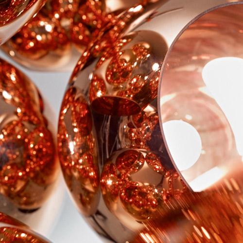 Купить 20 см медь зеркало стеклянный шар огни Современный краткое моды личности круглый шар Потолочный Светильник лампы