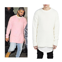new fashion pink black mens christmas sweater hip hop swag skateboard streetwear brand style clothing kanye west clothes hiphop(China (Mainland))