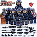 8PCS LegoINGlys Zombies Terrorist attacks Police Swat Team Communications Corps Army soldiers World War Military Figure