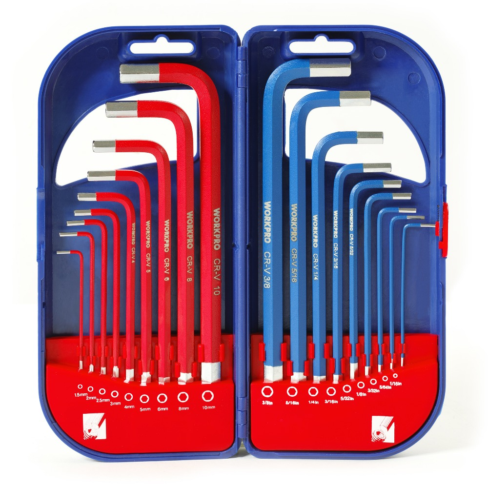 Hex Key Wrench Set Durable Reinforced SAE Metric Torx Allen L Wrench