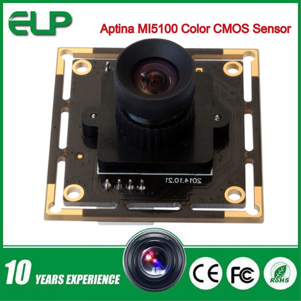 Фотография 2016 new 5mp 2592 X 1944 High Speed Aptina MI5100 HD MJPEG 30fps at 1080P 2.1mm lens mini usb Cmos Camera Module