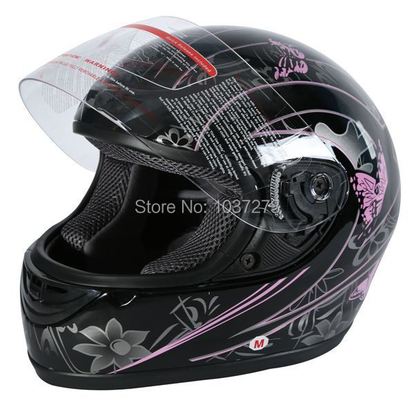 DOT ADULT Pink Black Butterfly Motorcycle MOTOCROSS Full Face Helmet S/M/L/XXL(China (Mainland))