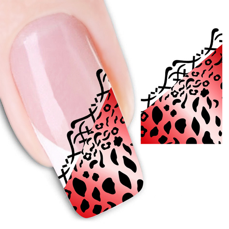 Fashion New Sex animal style Water Transfer Stickers 1 Sheets 3D Nail Art Decorations Nail Sticker Nail Decal Nail Tools XF1303(China (Mainland))