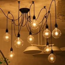 Lemonbest Edison Lights Industrial Style Home Lighting Vintage Loft Chandelier Lighting  fixtures DIY Lamps with 8 heads(China (Mainland))