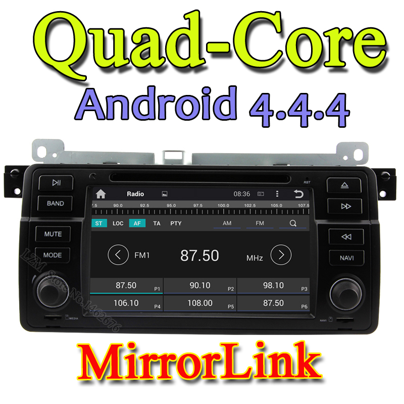 Quad-Core Capacitive Screen A9 1.6GHz Android 4.4.4 Car DVD Player GPS Radio For BMW 3 Series M3 With WiFi 3G ubs GPS Bluetooth(China (Mainland))