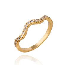 18K gold plated jewelry auger rings small delicate curve of zircon concise tail rings rings 2013 male and female tail rings(China (Mainland))