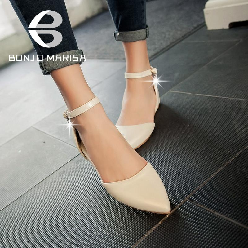 Fashion Pointed Toe Solid Shoes Woman Brand New Sweet Ankle Strap Women Pumps Cute Ladies Increased Internal Pumps With Buckle<br><br>Aliexpress