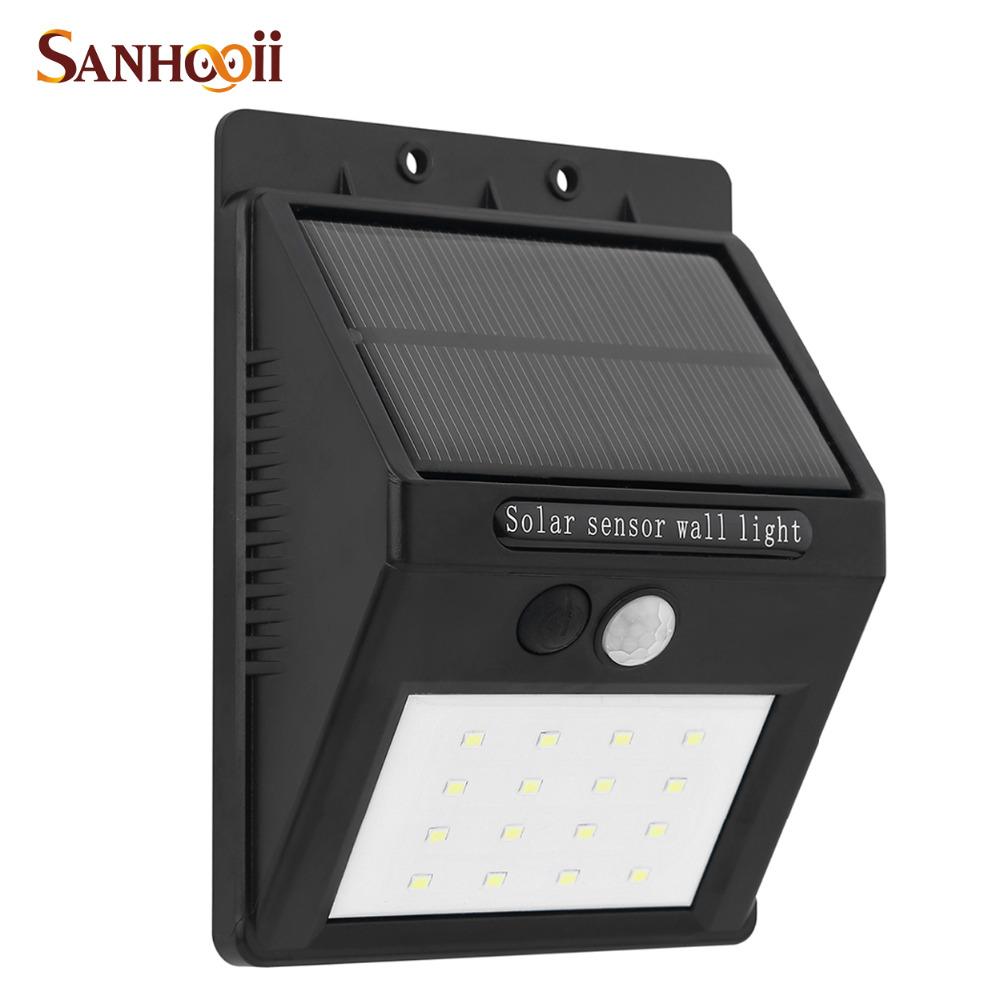 Outdoor 80LM 16 LED Solar Power PIR Motion Sensor Garden Yard Wall Light Bright Triangle Security Door Path Lamp IP65 Waterproof(China (Mainland))