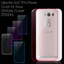 for Asus Zenfone 2 Laser Case Ultra-thin Soft TPU Phone Case Back Cover Gel Shell for Asus Zenfone 2 Laser ZE500KL (5.0 inch)(China (Mainland))