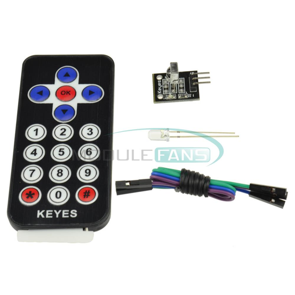 Infrared Remote Control Ir Receiver Module Diy Kit Hx1838 For Raspberry Pi