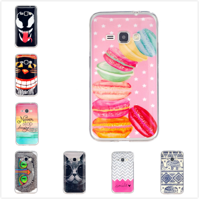 New Fashion 10 Patterns Cute Cartoon Soft TPU Case For Samsung Galaxy J1 2016 J120 J120F Protective Shell Colorful Cover(China (Mainland))