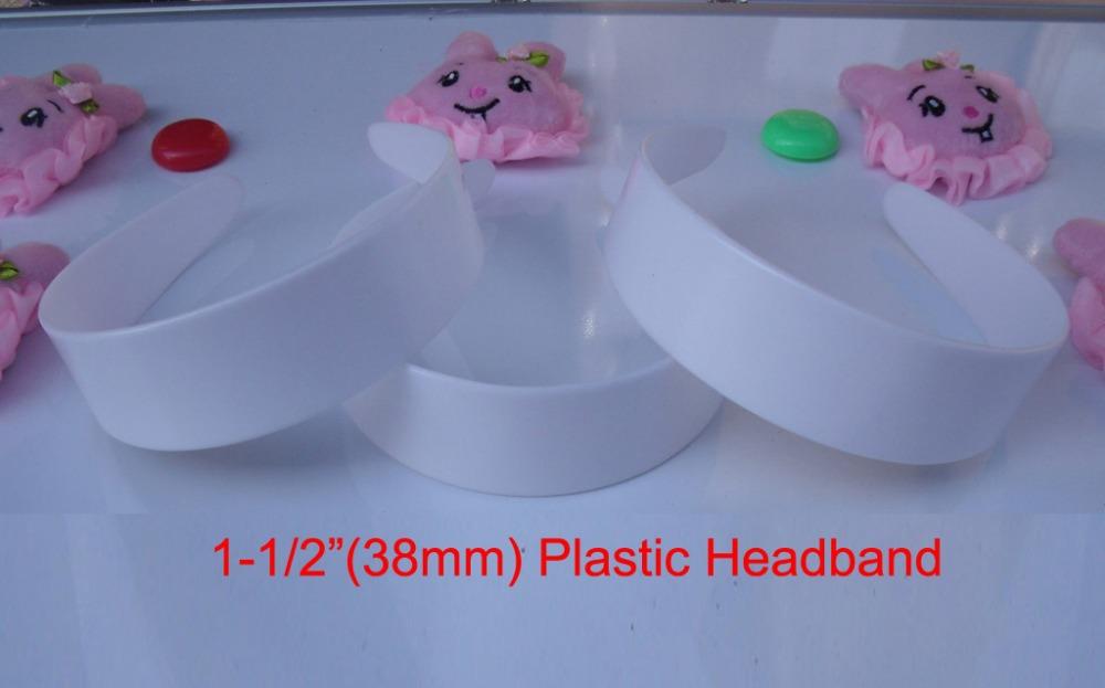 "10 pcs 1-1/2"" plastic headband without teeth plastic headband bulk 6 sizes to choose: 3/8"", 5/8"", 6/8"",1"", 1-1/2"", 48mm(China (Mainland))"