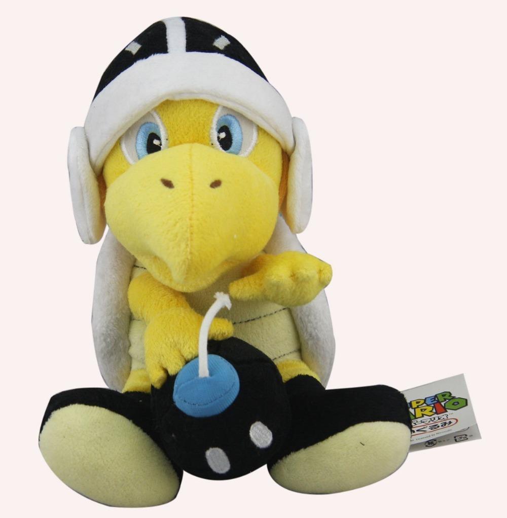 "New 8"" Super Mario Bros. Plush Black Bomb Koopa Troopa Soft Stuffed Animal Doll(China (Mainland))"