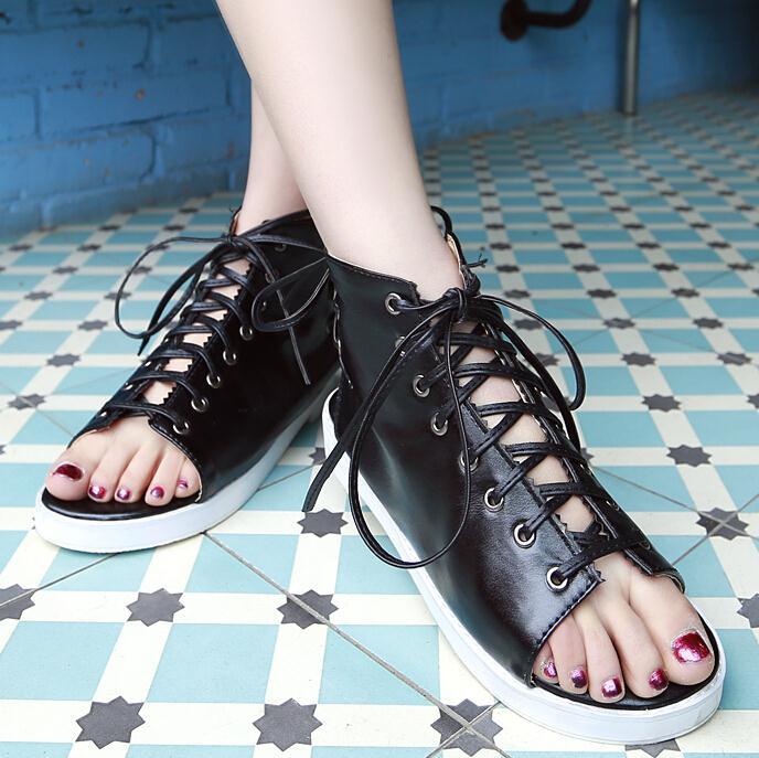 ENMAYER New fashion high quality vintage women shoes sandals flats womens spring platforms shoes gladiator sandals women<br><br>Aliexpress