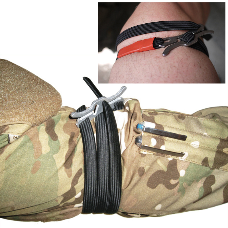 Military Survival Gear Medical Tourniquet Lightweight Home Outdoor Adventure Equipment One hand Handle First Aid Kit<br><br>Aliexpress