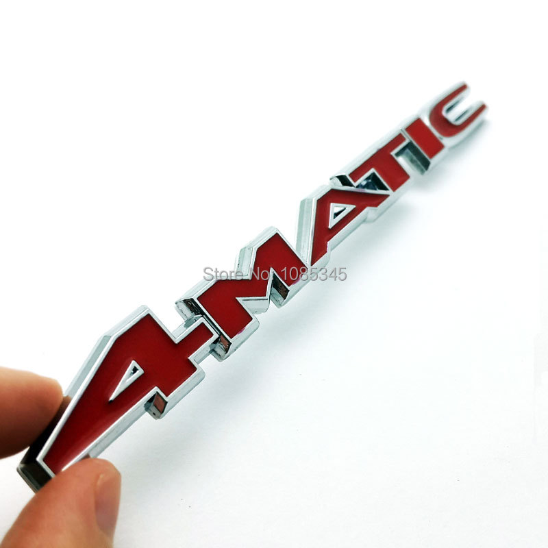 4Matic Stickers on Cars Trunk Side Emblem Chrome Badge Logo Car Sticker For Benz W124 W210 C E CL CLS R Car-Styling Accessories(China (Mainland))