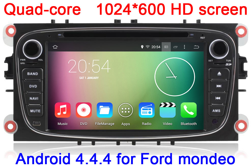 RK3188 Quad Core1024X600 HD Screen Android 4.4 Car DVD GPS For Ford Focus /Mondeo/S-max/C-max with WIFI 3G Radio RDS Stereo(China (Mainland))