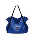 Fashion Nylon Large Bag Solid Color Plain Tote Women Large Capacity Waterproof Light Hand Bag Simple