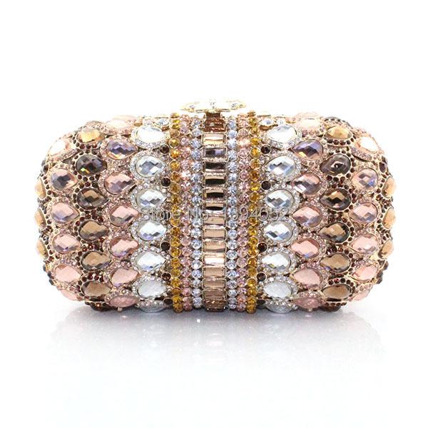 MOQ Only 1Pcs Factory Hot sale Delicate Handmade Ladies Crystal Handbag(China (Mainland))
