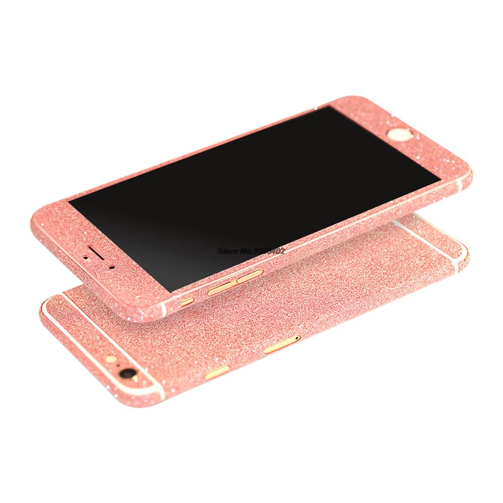 Reg Shipping Full Body Glitter Bling Sticker For iPhone 6S Coque Luxury Skin Cover Case For iPhone 6 Plus SE 5S 5C 4S Capinha(China (Mainland))