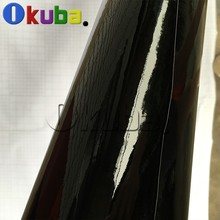 Black Glossy Vinyl Wrap Self-adhesive Film High Gloss Sheets with Air Bubble Free Size: 1.52m*30M(China (Mainland))