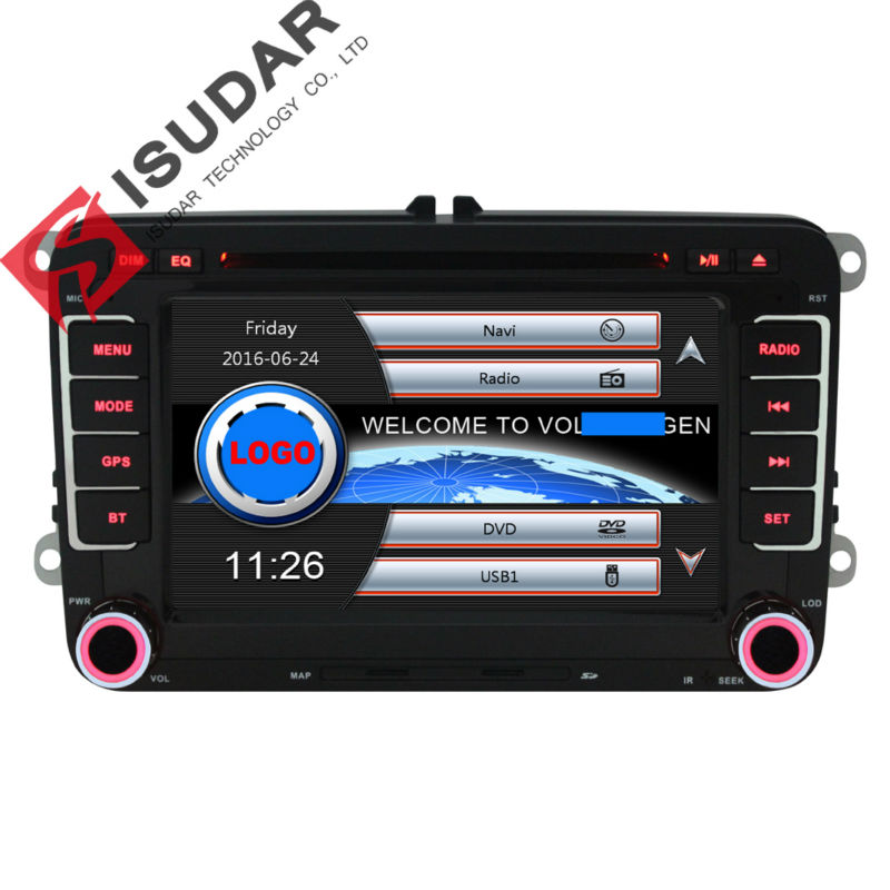 Wholesale! 2 Din 7 Inch Car DVD Player For VW/Volkswagen/Passat/POLO/GOLF/Skoda/Seat/Leon With GPS Navigaiton IPOD FM RDS Maps(China (Mainland))