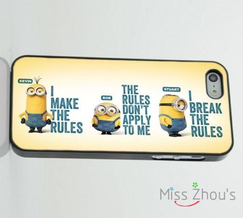 Minions Dispicable Me Funny Quotes back skins mobile font b cellphone b font cases for iphone